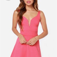 LULUS Exclusive Ready for My Closeup Coral Pink Dress