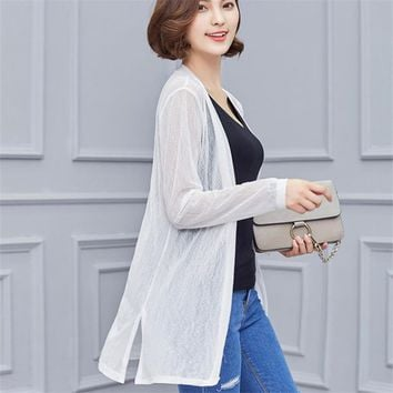 Women 2017 New Sweater Casual Crochet Poncho Clothing Spring Summer Cardigan Blouse Shirt Tops For Woman Sexy Plus Size Blusas