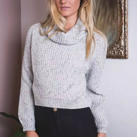 Plain Turtleneck Knitted Sweater