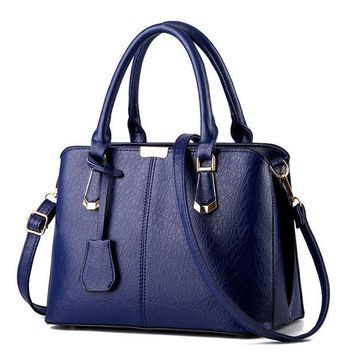 Blue Handbag Shoulder Bag Tote Purse Fashion Women Leather Messenger Hobo Bag