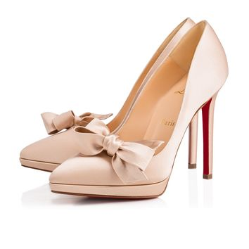 Miss Pigalle 120 Nu Crepe satin/Satin/Lurex - Women Shoes - Christian Louboutin