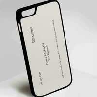 Patrick Bateman Business Card American Psycho iPhone 4, 4s, 5, 5s, 5c, 6, 6plus, 7 Case