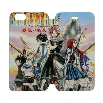 FAIRY TAIL Wallet Case for iPhone 4/4S 5/5S/SE 5C 6/6S Plus Samsung Galaxy S4 S5 S6 Edge Note 3 4 5