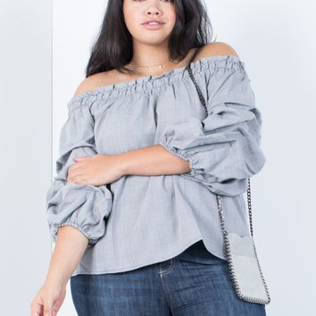 Plus Size Extreme Sleeves Blouse