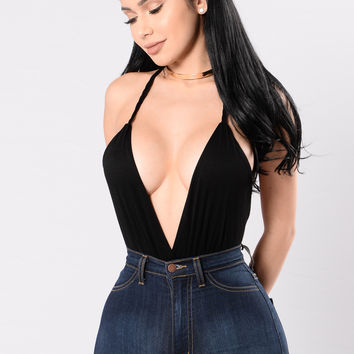 I'll Be Your Escape Bodysuit - Black