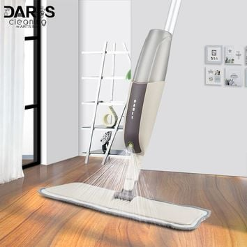 Spray Mop for Hardwood Floors Dust Mop with Microfiber machine washable Pad for a Quick Cleaner with a Refillable Water Bottle