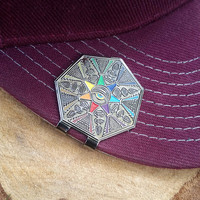 Sacred Seven Geometric Brim Clip collab w/ GROK *LIMITEDEDITION* Heady Hat Pins by : Eccentric Visuals