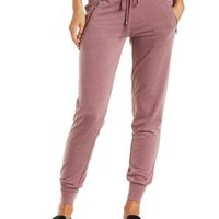 Jersey Knit Drawstring Jogger Pants with Pockets