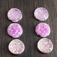 Druzy earring set- Lilac sky drusy stud set - druzy earrings