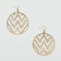 FULL TILT Round Zig Zag Cutout Earrings
