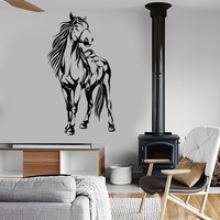 Vinyl Wall Decal Horse Saddle Animal Stickers Mural Unique Gift (ig4109)