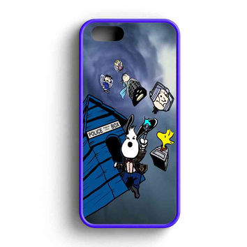 Snoopy Police Box Flying iPhone 5 Case iPhone 5s Case iPhone 5c Case