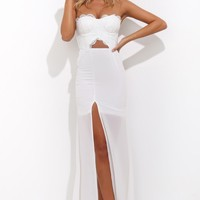 Celebration Day Maxi Dress White