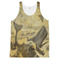 vintage whalers on parchment All-Over-Print tank top