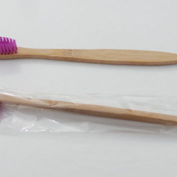 VIOLET Bamboo Toothbrush! SOFT Bristles,Biodegradable & Natural Anti Bacterial!