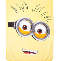 Despicable Me Minion Face Plush Throw