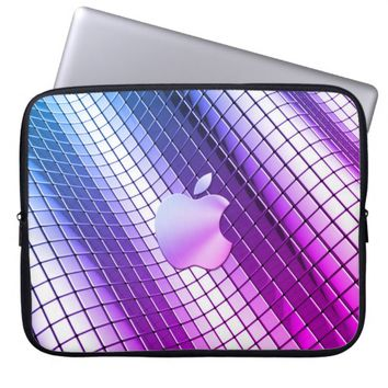 Style Metal with apple logo Laptop Sleeve