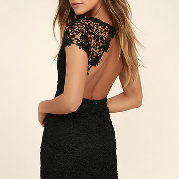 Hidden Talent Backles Black Lace Dress