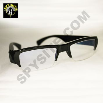 Totally Hidden Clear Lens Eyeglasses Spy Camera DVR