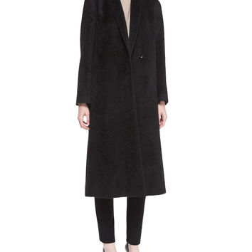 Fisher Project Long Alpaca Coat, Size: