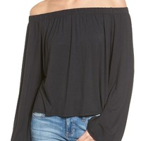 Love, Fire Knit Off the Shoulder Top | Nordstrom