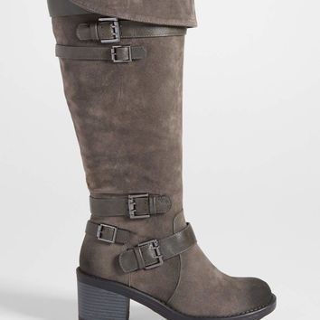 Shelly multi buckle boot with fold over top | maurices