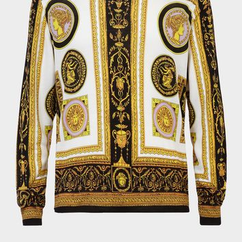 Versace Cornici Print Silk Sweater for Men | US Online Store