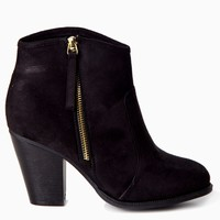 Black-Suede-Zip-Side-Ankle-Boot