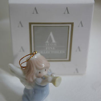 Precious Moments Angel Ornament Joy to The World by Samuel Butcher