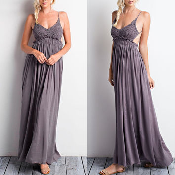 crocheted maxi dress - more colors