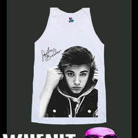 worldwide shipping just 7 days JUSTIN BIEBER shirt singlet tank top 1015