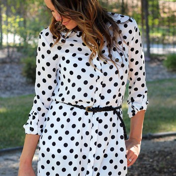 Spot On Tunic Top