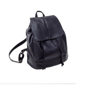 Fashion Leather Shoulder Backpack