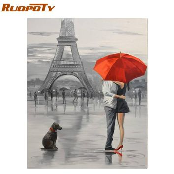 RUOPOTY Frame Lovers DIY Painting By Numbers Modern Wall Art Picture Figure Painting Acrylic Paint On Canvas For Home Decor Arts