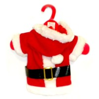 Santa Claus Solid Suit Outfit Costume for Dogs or Puppies (Medium)