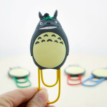 Totoro/ Clip/ Bookmark/ Cute stationary/ Stationary/ Accessory/ Paper Clip/ gift - 1 pc
