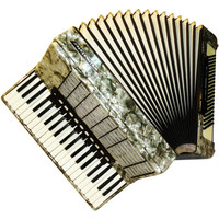 German Weltmeister Stella, 120 Bass, 16 Registers, Piano Accordion Instrument, 517