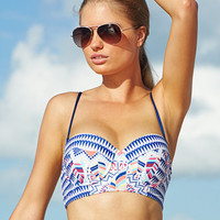 Bar III Printed Underwire Bikini Top