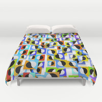 Square, dots tile pattern Duvet Cover by LoRo  Art & Pictures
