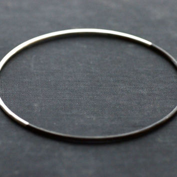 Black and White Sterling Silver Bangle