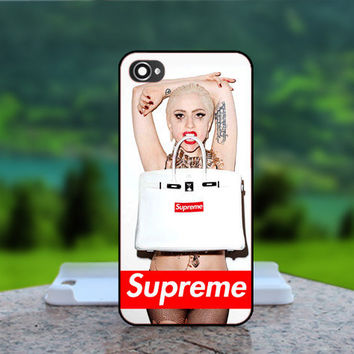Lady Gaga Supreme  - Photo Print in Hard Case - For iPhone 4 / 4s Case , iPhone 5 Case - White Case, Black Case (CHOOSE OPTION )