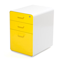 White + Yellow West 18th File Cabinet