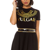 Hellz Bells Tee Vulgar in Black