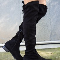 Over the Knee Boots - Black