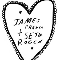 James Franco and Seth Rogen Illustrated Silk Screened T-Shirt