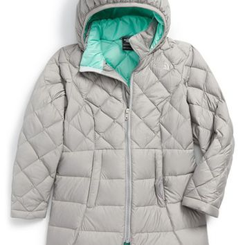 The North Face Girl's 'Metropolis' Water Repellent Hooded Quilted Down Parka,