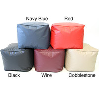 Vinyl Small Leather Look Ottoman | Overstock.com Shopping - The Best Deals on Bean & Lounge Bags