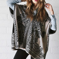 Sand Dunes Printed Pancho