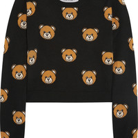 Moschino - Cropped bear-intarsia wool sweater
