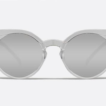Quay Kosha Clear Sunglasses, Mirror Lenses
